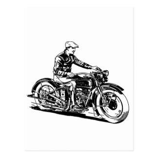 Vintage Motorcycle Postcard