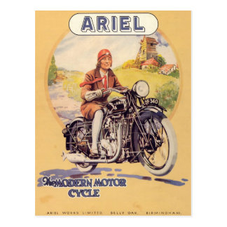 Vintage Motorcycle Poster Post Cards