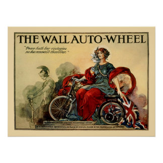 Vintage Motorcycle Poster: The Wall Auto Wheel Poster