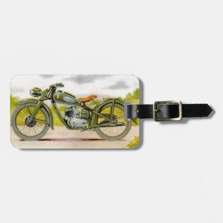 Vintage Motorcycle Print Bag Tag