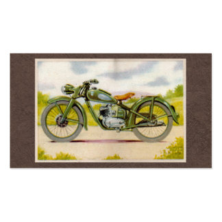 Vintage Motorcycle Print Double-Sided Standard Business Cards (Pack Of 100)