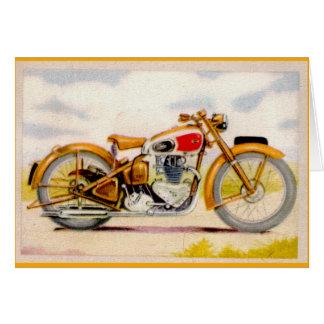 Vintage Motorcycle Print Stationery Note Card