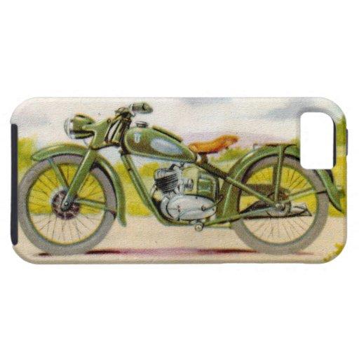 Vintage Motorcycle Print iPhone 5 Cover