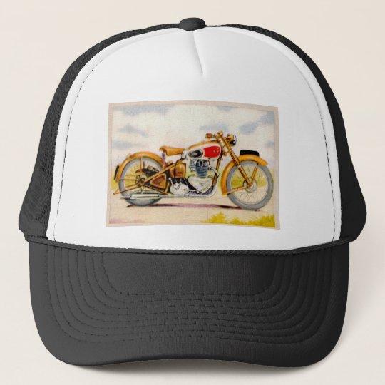 Vintage Motorcycle Print Trucker Hat