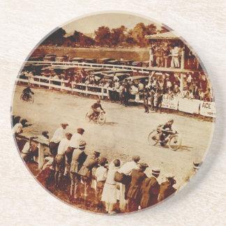 Vintage Motorcycle Race Sandstone Coaster