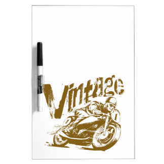 Vintage Motorcycle Racer Dry-Erase Board