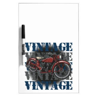Vintage Motorcycle Rider Dry Erase Board