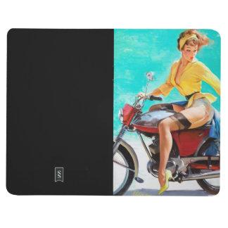 Vintage Motorcycle Rider Gil Elvgren Pinup Girl Journal
