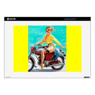Vintage Motorcycle Rider Gil Elvgren Pinup Girl Laptop Decal