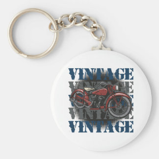 Vintage Motorcycle Rider Keychain