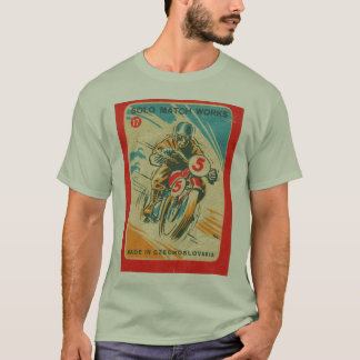 Vintage Motorcycle Rider Matchbook Art T-Shirt
