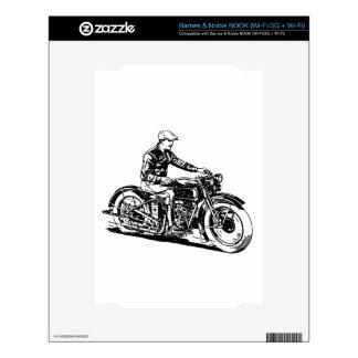 Vintage Motorcycle Skin For NOOK