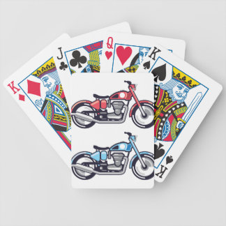 Vintage Motorcycle stylized vector Bicycle Playing Cards