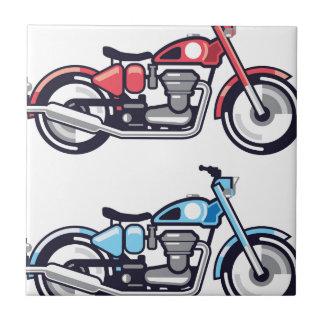 Vintage Motorcycle stylized vector Ceramic Tile