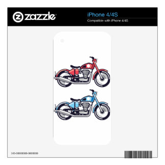Vintage Motorcycle stylized vector iPhone 4 Skins