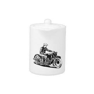 Vintage Motorcycle Teapot