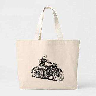 Vintage Motorcycle Tote Bags