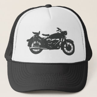 Vintage Motorcycle Trucker Hat
