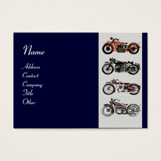 VINTAGE MOTORCYCLES blue red white grey Business Card