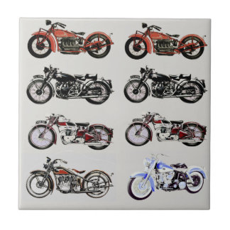 VINTAGE MOTORCYCLES CERAMIC TILE