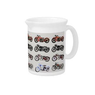VINTAGE MOTORCYCLES DRINK PITCHER