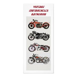 VINTAGE MOTORCYCLES GATHERING Red Black White Card