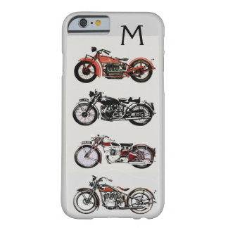 VINTAGE MOTORCYCLES MONOGRAM BARELY THERE iPhone 6 CASE