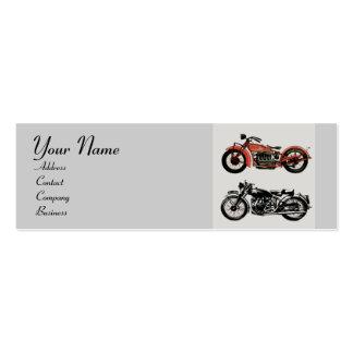 VINTAGE MOTORCYCLES MONOGRAM BUSINESS CARDS