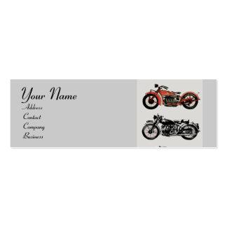 VINTAGE MOTORCYCLES MONOGRAM BUSINESS CARD TEMPLATE