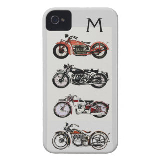 VINTAGE MOTORCYCLES MONOGRAM iPhone 4 COVER