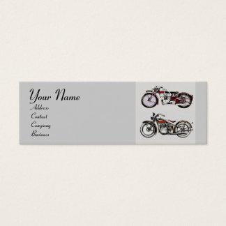 VINTAGE MOTORCYCLES MONOGRAM MINI BUSINESS CARD