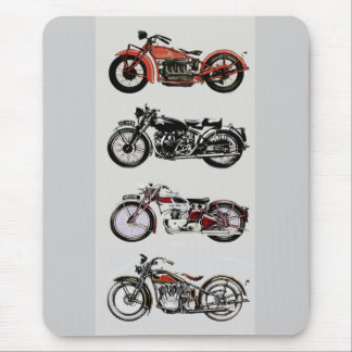 VINTAGE MOTORCYCLES MOUSE PAD