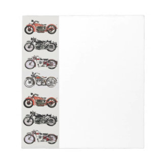 VINTAGE MOTORCYCLES NOTEPAD