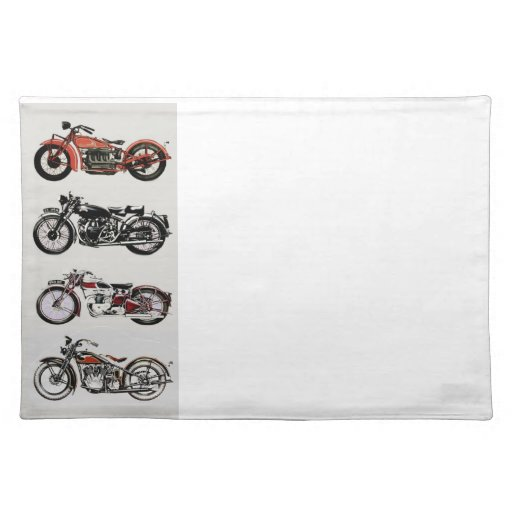 VINTAGE MOTORCYCLES PLACEMAT