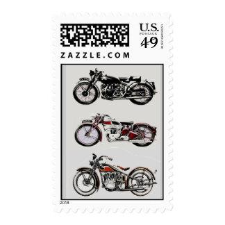 VINTAGE MOTORCYCLES STAMPS