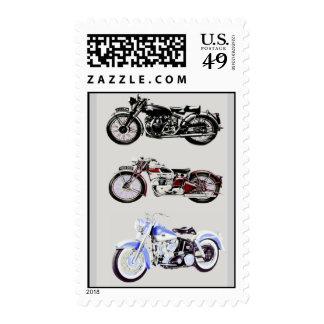 VINTAGE MOTORCYCLES STAMP