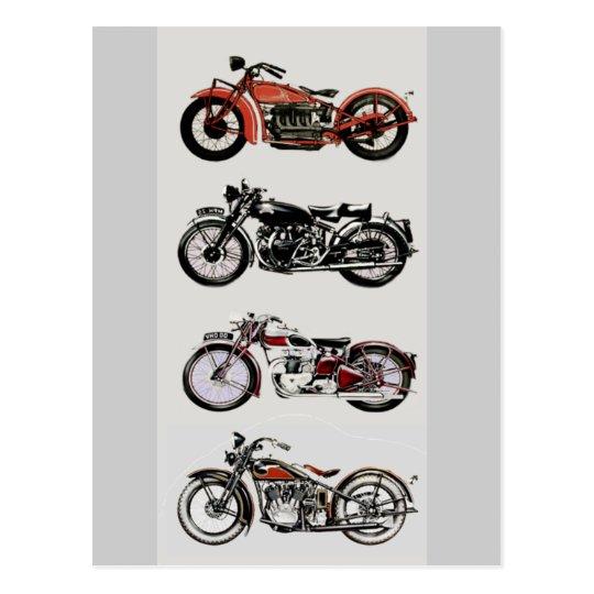 VINTAGE MOTORCYCLES POSTCARD