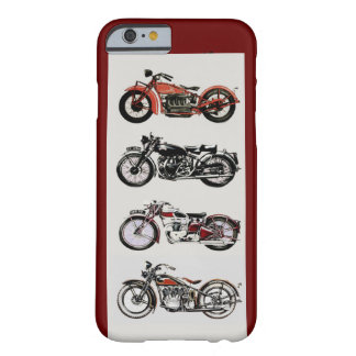 VINTAGE MOTORCYCLES ,Red Barely There iPhone 6 Case
