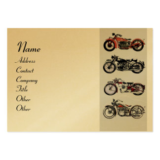 VINTAGE MOTORCYCLES red black Gold Metallic Business Card Template