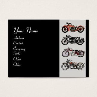 VINTAGE MOTORCYCLES red black grey blue Business Card