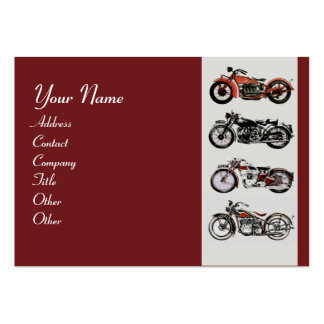 VINTAGE MOTORCYCLES red black grey Business Card Templates