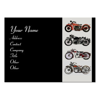 VINTAGE MOTORCYCLES red black grey Business Card Template