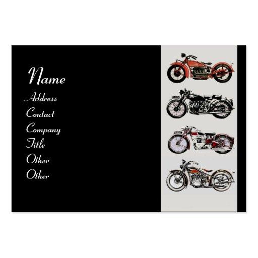 VINTAGE MOTORCYCLES red black grey Large Business Card