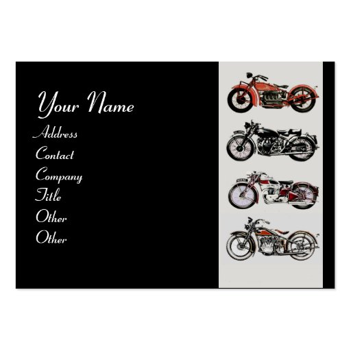 VINTAGE MOTORCYCLES red black grey Large Business Card