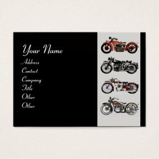 VINTAGE MOTORCYCLES red black grey pink Business Card