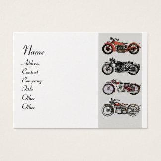 VINTAGE MOTORCYCLES red black Platinum Metallic Business Card