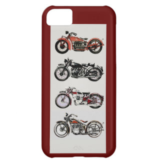 VINTAGE MOTORCYCLES ,Red Cover For iPhone 5C