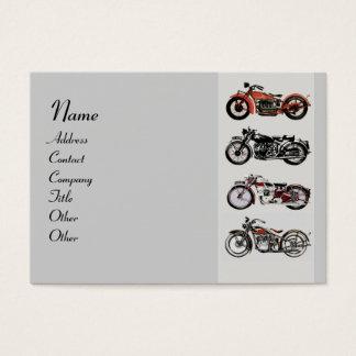 VINTAGE MOTORCYCLES red grey black Business Card