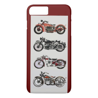 VINTAGE MOTORCYCLES ,Red iPhone 7 Plus Case