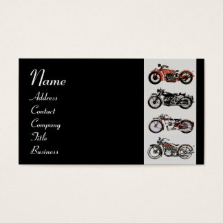 VINTAGE MOTORCYCLES red white grey black Business Card